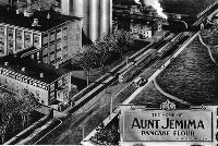 Enlargement from postcard of St. Joseph's Aunt Jemima plant.