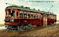 Postcard of KCCC&STJ Interurban Car